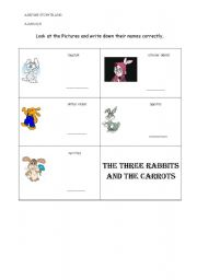 English Worksheets: The Three Bunnies and The Carrots 2