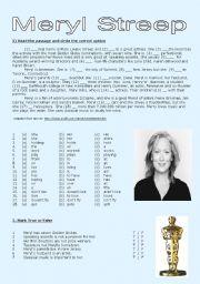 English Worksheet: Meryl Streep