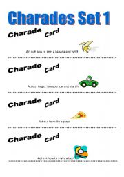 English Worksheet: Charades Game