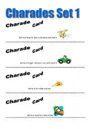 English Worksheets: Charades Game