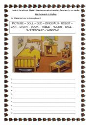 English Worksheets: LOOK AT THE PICTURE