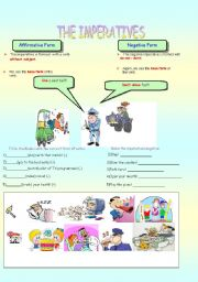 English Worksheet: IMPERATIVES (PART 1)