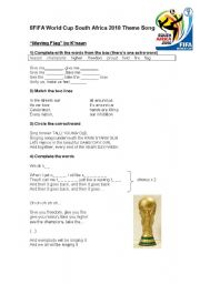 English Worksheet: FIFA World Cup South Africa 2010 Theme Song