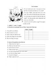 English Worksheets: classroom objects/place prepositions