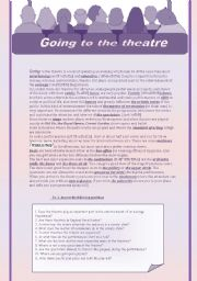 English Worksheet: Going to the theatre