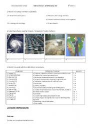 English Worksheet: 4th year - Unit 4 Lesson 5 A news Cast
