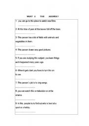 English Worksheets: What�s the answer?