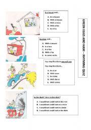 English Worksheets: Green Eggs & Ham