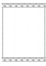 English Worksheets: mosaic frame