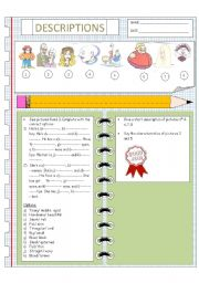 English worksheets: describing people worksheets, page 165