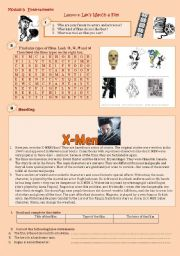 English Worksheet:  Let´s watch a film