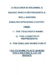 English Worksheets: ENGLISH GYMKHANA