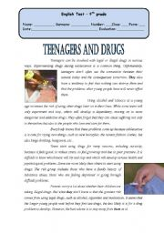 Test - teenagers and drugs