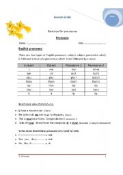 English worksheet: Pronouns