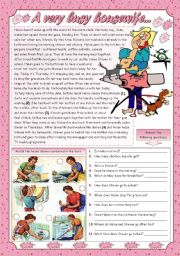 English Worksheets: A VERY BUSY HOUSEWIFE...