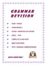 English Worksheet: General grammar revision (9 pages)
