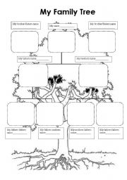 Family Tree Worksheets