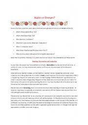 English Worksheets: Apple & Orange