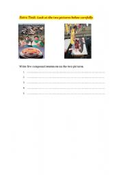 English Worksheet: Writing compound sentences