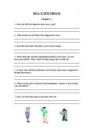 English Worksheets: Bill�s New Frock Comprehension Worksheets
