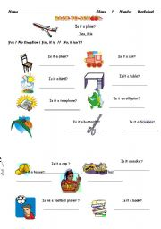 English Worksheets: yes / no Question