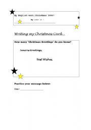 English Worksheets: Christmast greeting card