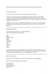 English Worksheet: Three tasks on British Culture for Moodle