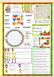 English Worksheet: Fruit Frenzy