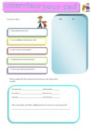 English Worksheets: Interview your dad