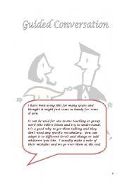 English Worksheet: SPEAKING PRACTICE: Guided conversation