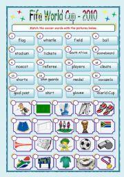 English Worksheet: Fifa World Cup Matching ws
