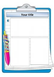 English worksheet: Clipboard template