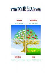 English Worksheet: the four seasons