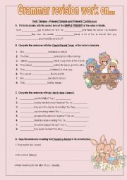 Grammar Revison work on Present Simple and Present Continuous / Comparatives and Superlatives