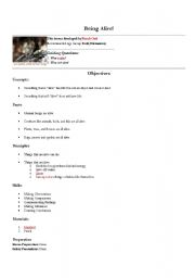 English Worksheets: Being Alive!