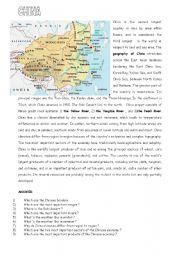 English Worksheet: china