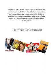 English worksheet: television conversation page 2