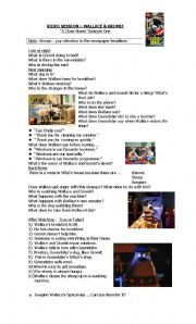 English Worksheets: Wallace & Gromit - Video Session - A Close Shave