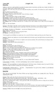 English Worksheets: School Play - Script - A Knight�s Tale