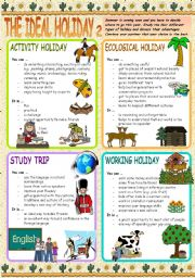 English Worksheets: THE IDEAL HOLIDAY 2