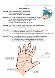 English Worksheets: Palm Reading