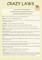 English Worksheets: Crazy Laws
