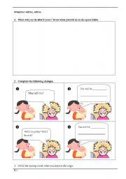 English Worksheets: Que Sara Sara