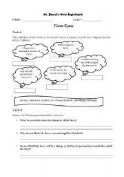 English worksheets: Literature worksheet