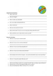 English Worksheet: Earth Day Information and Worksheet [PAGE 2]