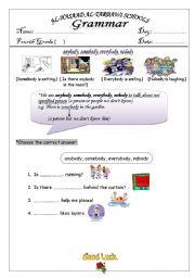 English Worksheets: anybody somebody nobody everybody