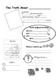 English Worksheets: The truth about me