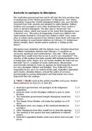 English Worksheet: Apologising