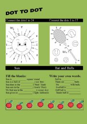 English Worksheets: Conecting the dots