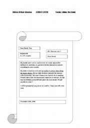 English Worksheets: riendly letter